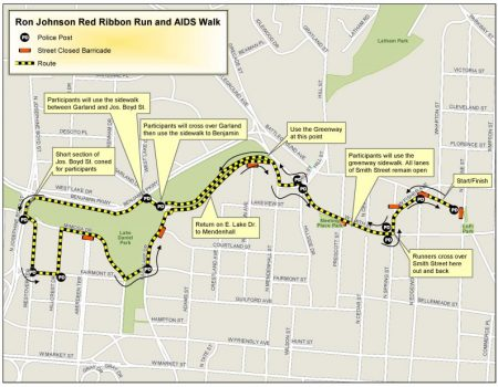 Red Ribbon Run & AIDS Walk Course Map